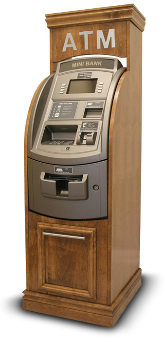 Wooden ATM Cabinet Enclosures Surrounds Oak Cherry Mahogany Maple